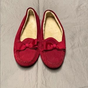 Cole hann red bow tie flats size 7
